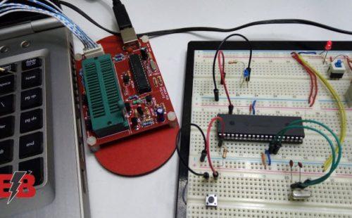 التحكم في إَضاءة LED بإستخدام PIC16f877a
