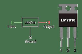 7818 Voltage Regulator منظم جهد