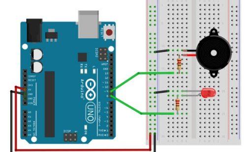 مشروع اردوينو إشارة الاستغاثة بإستخدام شفرة مورس SOS Morse code