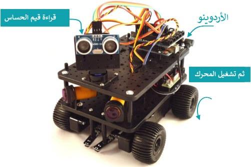 تطبيق لعربية روبوت باستخدام الاردوينو