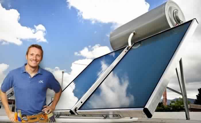تركيب السخان الشمسي