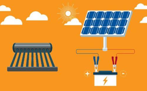 انواع انظمة الطاقة الشمسية