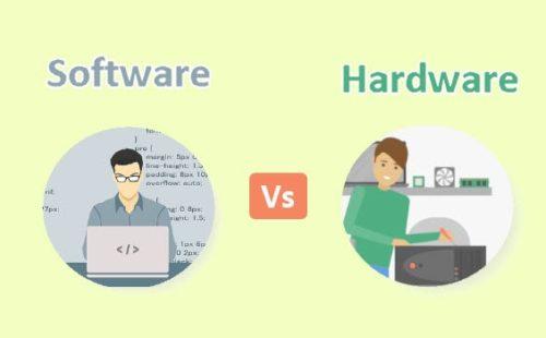 الفرق بين الهاردوير والسوفت وير ( Hardware vs Software )